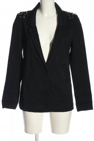 H&M Divided Long-Blazer schwarz Casual-Look