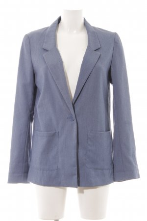 H&M Divided Long-Blazer graublau Business-Look