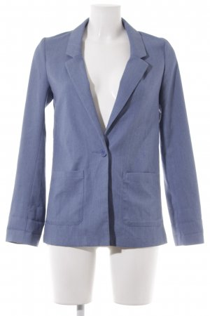 H&M Divided Long-Blazer kornblumenblau Jeans-Optik