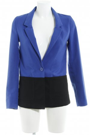 H&M Divided Long-Blazer schwarz-blau Casual-Look
