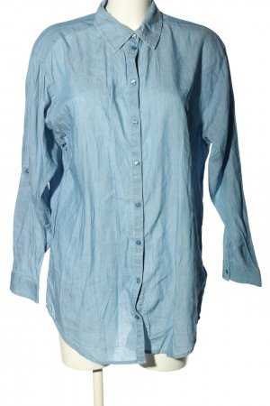 H&M Divided Long-Bluse blau Casual-Look