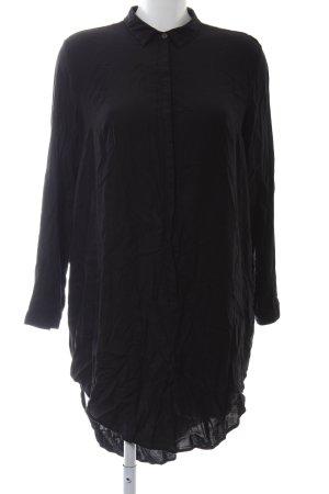 H&M Divided Lange blouse zwart zakelijke stijl