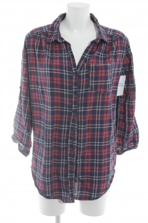 H&M Divided Long-Bluse Glencheckmuster Casual-Look