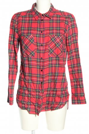 H&M Divided Long-Bluse Karomuster Casual-Look