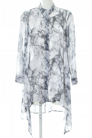 H&M Divided Long-Bluse mehrfarbig Marmor-Optik