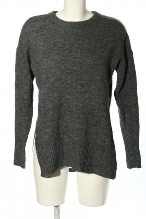 H&M Divided Long Sweater light grey flecked casual look