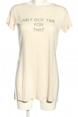 H&M Divided Longshirt wollweiß Schriftzug gedruckt Casual-Look