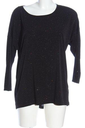H&M Divided Longshirt schwarz meliert Casual-Look