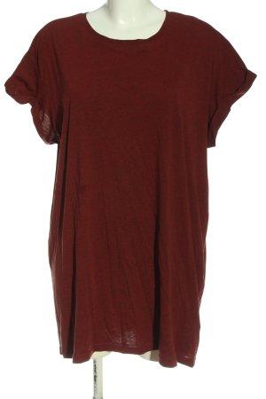 H&M Divided Longshirt braun meliert Casual-Look