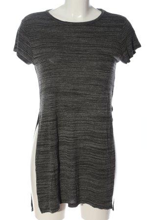 H&M Divided Longshirt schwarz-hellgrau meliert Casual-Look