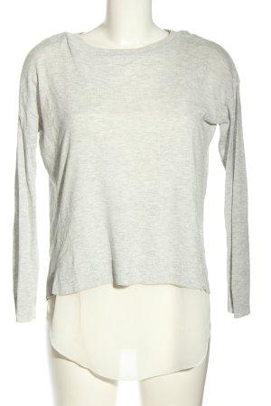 H&M Divided Longshirt hellgrau-creme meliert Casual-Look