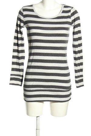H&M Divided Koszulka z długim rękawem czarny-biały Melanżowy W stylu casual