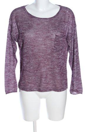 H&M Divided Longsleeve lila-weiß meliert Casual-Look