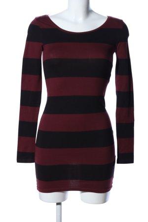 H&M Divided Longsleeve schwarz-rot Streifenmuster Casual-Look