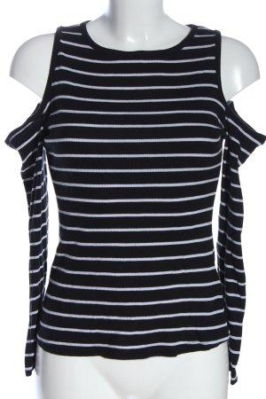 H&M Divided Longsleeve schwarz-weiß Streifenmuster Casual-Look