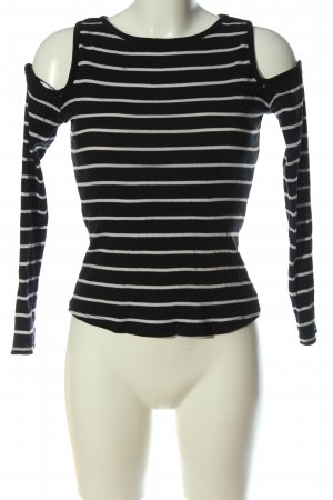 H&M Divided Longsleeve black-white striped pattern casual look