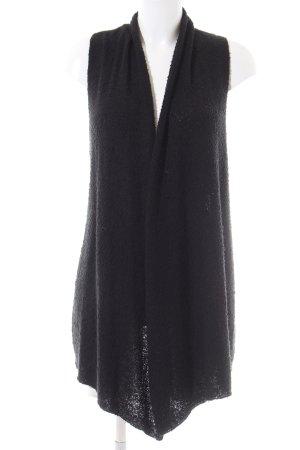 H&M Divided Lang gebreid vest zwart casual uitstraling
