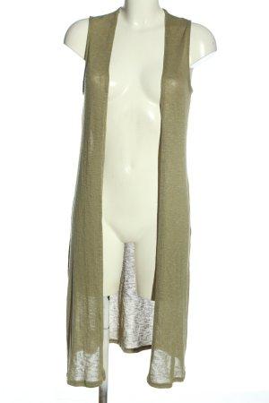 H&M Divided Gilet long tricoté kaki style décontracté