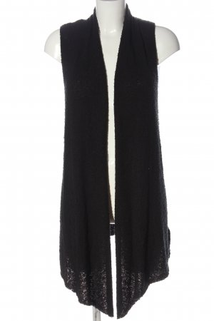 H&M Divided Long Knitted Vest black casual look
