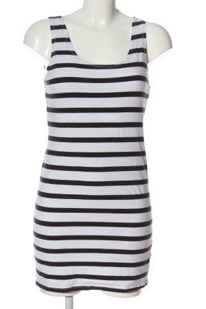 H&M Divided Top long blanc-noir motif rayé style décontracté