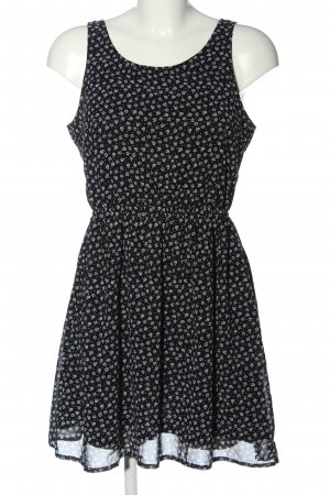H&M Divided Vestido cut out negro-blanco look casual