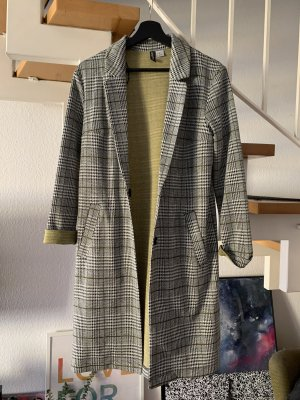 H&M Divided Mantel Longblazer kariert