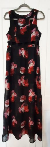 H&M Divided Cut Out Dress black-red