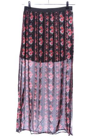 H&M Divided Falda larga estampado floral look casual