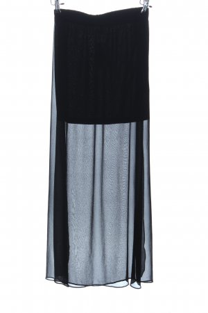 H&M Divided Maxi Skirt black party style