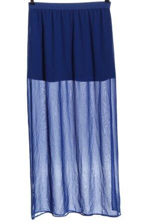 H&M Divided Maxirock blau Casual-Look