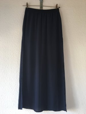 H&M Divided Maxi rok donkerblauw
