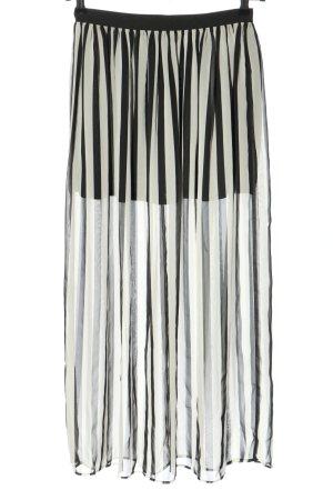 H&M Divided Spódnica midi biały-czarny Na całej powierzchni W stylu casual