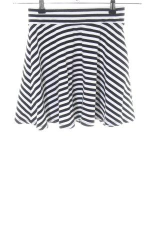 H&M Divided Spódnica midi biały-czarny Wzór w paski W stylu casual