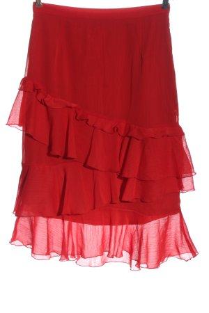 H&M Divided Spódnica midi czerwony W stylu casual