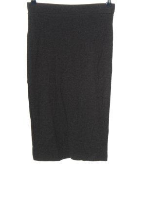 H&M Divided Falda stretch gris claro moteado look casual