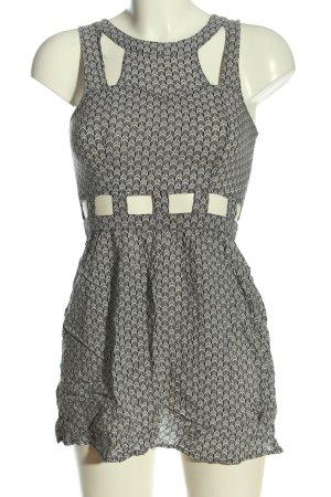 H&M Divided Minikleid schwarz-weiß Allover-Druck Casual-Look