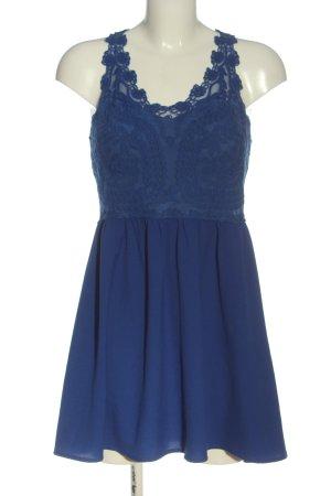 H&M Divided Minikleid blau Blumenmuster Casual-Look