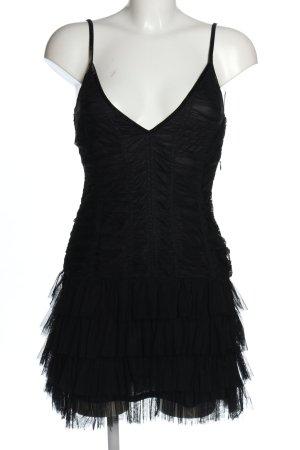 H&M Divided Minikleid schwarz extravaganter Stil