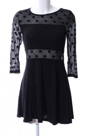 H&M Divided Mini vestido negro elegante