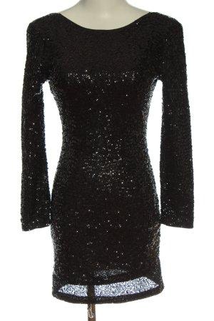 H&M Divided Minikleid schwarz-silberfarben Elegant
