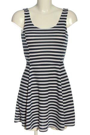 H&M Divided Minikleid schwarz-weiß Streifenmuster Casual-Look