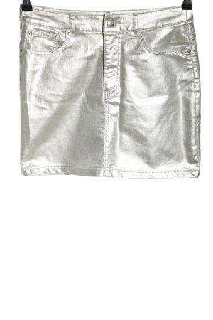 H&M Divided Minirock silberfarben Casual-Look