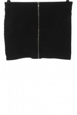 H&M Divided Minirock schwarz Zopfmuster Casual-Look