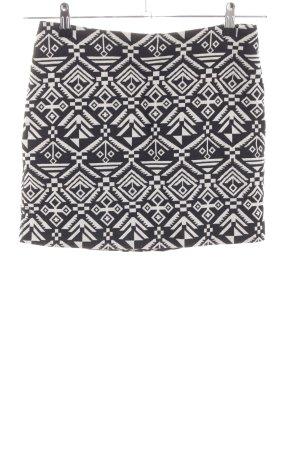 H&M Divided Minirock schwarz-weiß abstraktes Muster Casual-Look