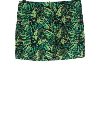 H&M Divided Minirock grün-blassgelb Allover-Druck Elegant