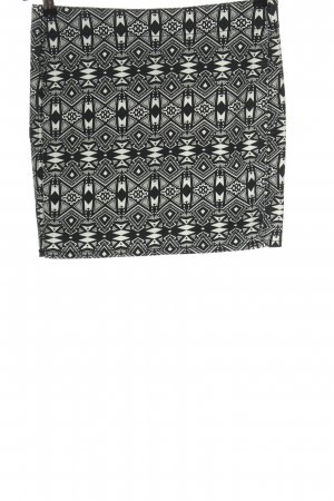 H&M Divided Minirock schwarz-wollweiß grafisches Muster Casual-Look