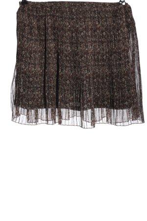 H&M Divided Minirock braun abstraktes Muster Casual-Look