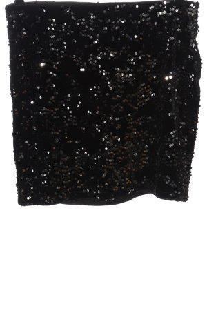 H&M Divided Minirock schwarz-silberfarben Elegant