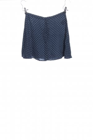 H&M Divided Minirock blau-weiß Punktemuster Casual-Look