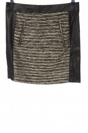 H&M Divided Minirock schwarz-creme Webmuster Casual-Look